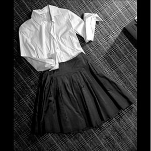 Lauren by Ralph Lauren Black Label Pleated Skirt